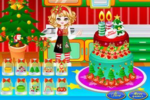 圣诞节的大蛋糕