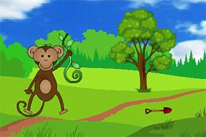 小猴子逃出树林