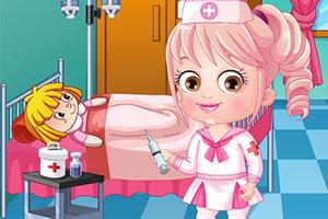 可爱宝贝当护士