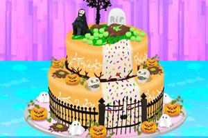 美味的万圣节大蛋糕