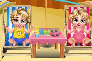 双胞胎去水上乐园
