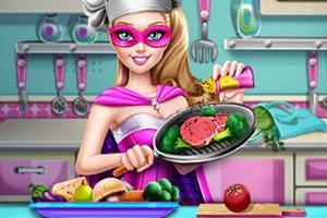 芭比超人做饭