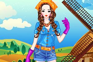农场可爱女孩