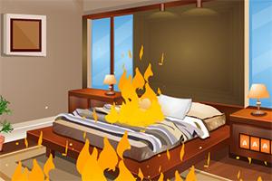 着火的房子逃脱