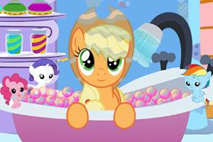 给彩虹小马洗澡