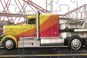 火箭花纹卡车拼图