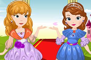 索菲亚和琥珀的花装扮
