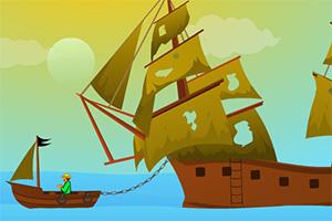 破损的帆船逃脱
