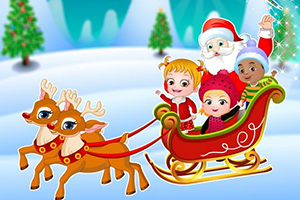 可爱宝贝的圣诞惊喜