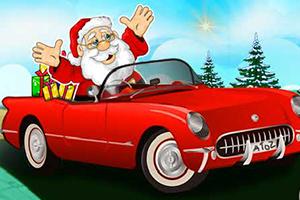 圣诞老人漂移赛车