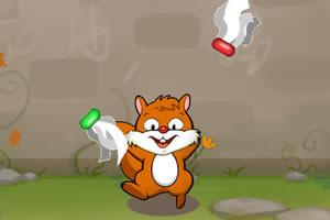 小松鼠踢毽子