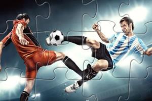 足球射门拼图
