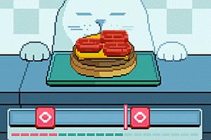 猫咪吃汉堡