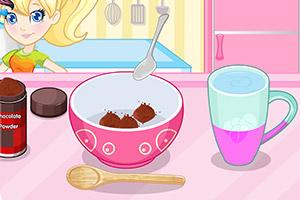 美味的巧克力冰激凌