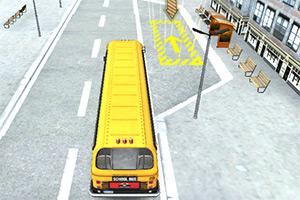 3D校车城镇停车