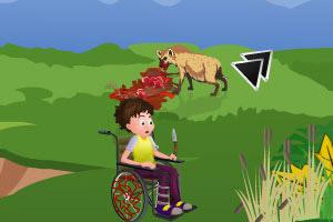 轮椅男孩悬崖逃生