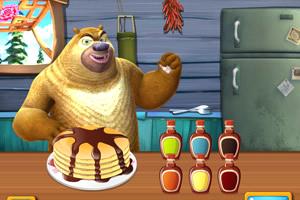 熊出没之熊大熊二烤煎饼甜点