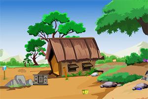 逃出森林村庄房子