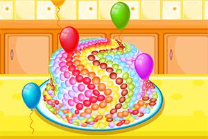 制作美味糖果蛋糕