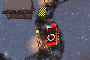 圣诞节雪橇车停靠