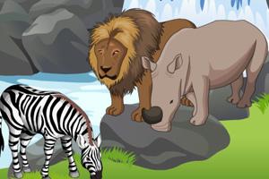 布置动物世界