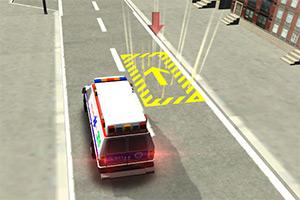 3D停靠救护车