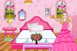 芭比公主打扫房间