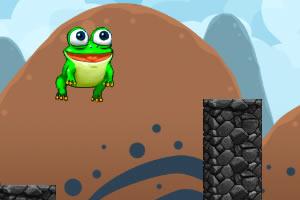 青蛙跳木桩