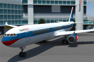 3D城市飞机停靠