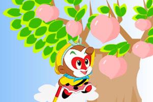小猴子收仙桃