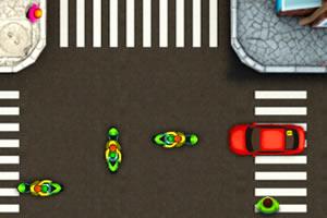 交通繁忙的十字路口