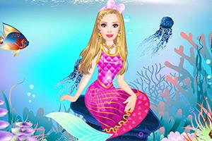 漂亮的美人鱼装扮