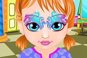 安娜宝贝的面部彩绘