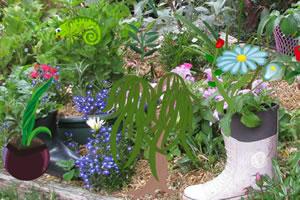 凌乱的家庭花园