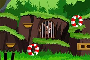 小狗逃出森林