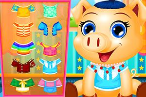 打扮可爱的小猪