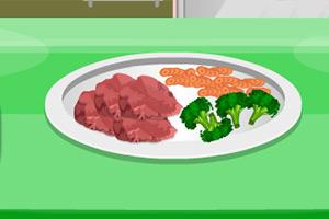 鸡肉蔬菜餐