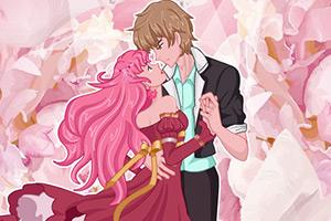 浪漫的新婚夫妇