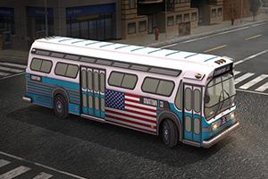 美国大巴士停靠