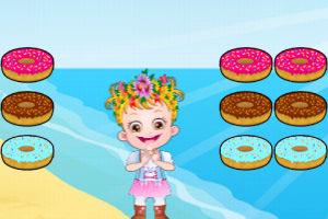 可爱宝贝吃甜甜圈