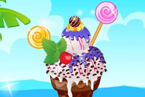 装饰可口的冰淇淋