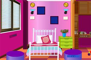 可爱的粉色房子逃脱