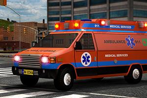 3D救护车紧急停靠