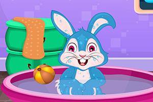 小兔子爱洗澡