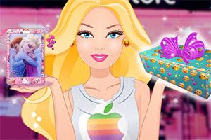 芭比装饰苹果手机
