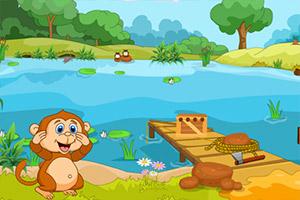 饥饿的猴子逃脱