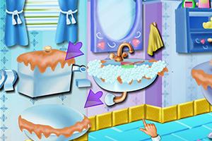 安娜浴室大扫除
