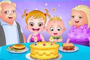 可爱宝贝庆祝祖父母节