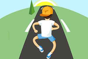 奋力奔跑图片