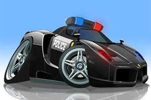 V8警车停靠